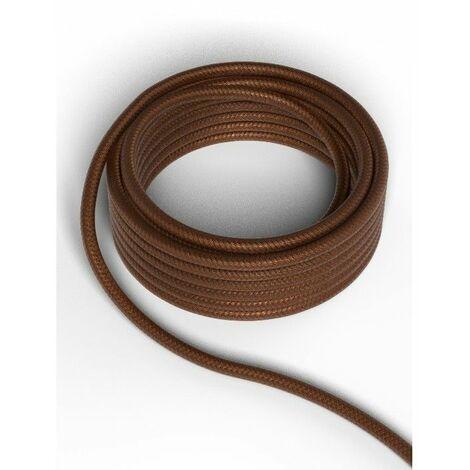 Cable decorativo textil CALEX 940224 2x0.75mm2 1.5MT Marron Metalizado