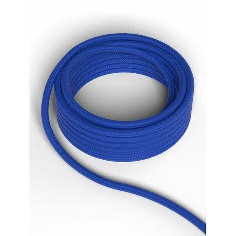 Cable decorativo textil CALEX 940230 2x0.75mm2 1.5MT Azul