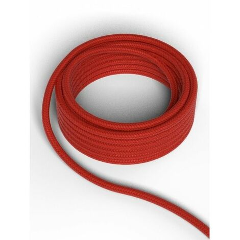 Cable decorativo textil CALEX 940232 2x0.75mm2 1.5MT Rojo