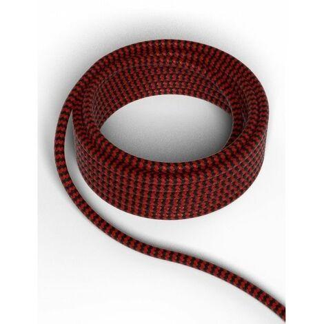 Cable decorativo textil CALEX 940282 2x0.75mm2 3MT Negro/Rojo
