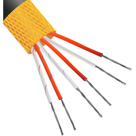 Câble d'extension Type J, température -10 → +105 °C Non blindé, Gaine PVC 10m