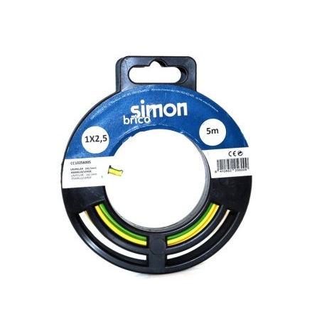 CABLE ELEC 1X2,5 5MT HILO FLEXIBLE SIMON B AM/VE H07V-K CC