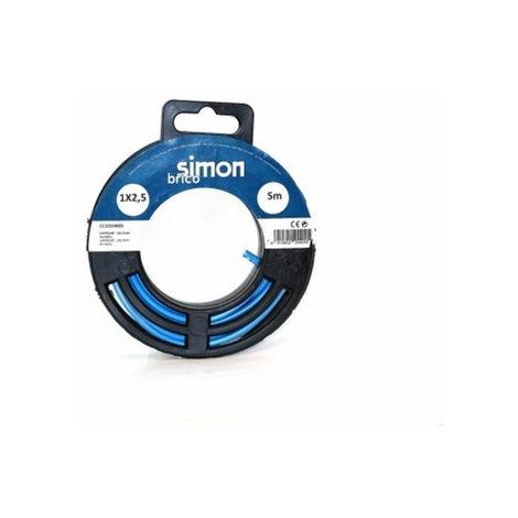CABLE ELEC 1X2,5 5MT HILO FLEXIBLE SIMON B AZ H07V-K CC102