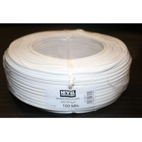 Cable elec 2x0,50mm mang nivell bl plano mp2005.0 100 mt
