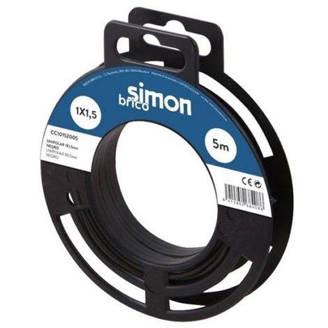 Cable Elec 2x1 10mt Mang Simon B Bl H05vv-f Rdo Cc40211010