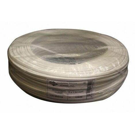 Cable Elec 2x1,5mm Mang Cemi Bl Plano Mp2015.0 100 Mt
