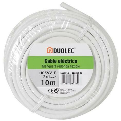 CABLE ELECT MANGUE RED 2X1 25M BL DUOLEC