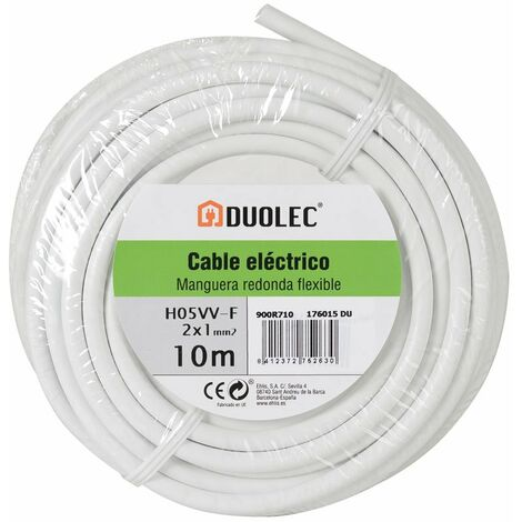 CABLE ELECT.MANGUE.RED 2X1 10M BL DUOLEC