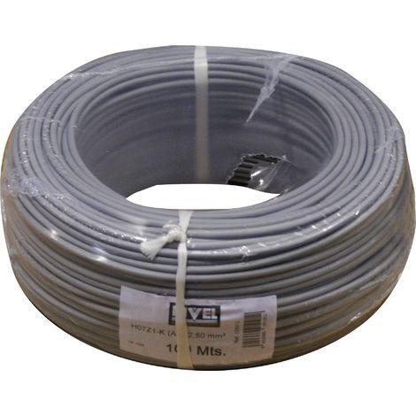 Cable Electricidad 2,5Mm Hilo Flexible Nivel Cobre Gris Libre Halogeno