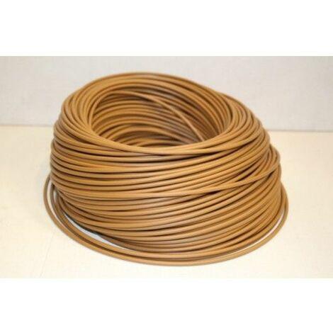 Cable Electricidad 2,5Mm Hilo Flexible Nivel Cobre Marron Libre Haloge