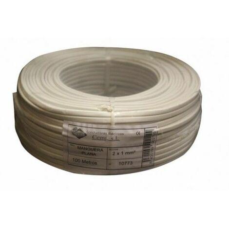 Cable Electricidad 2X1Mm Manguera Nivel Blanco Plano Mp2010 100 Mt