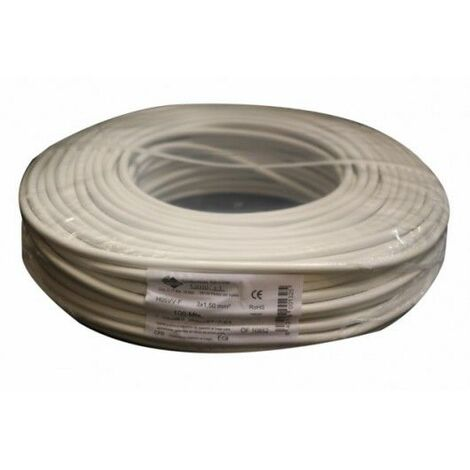 Cable Electricidad 3X1,5Mm Manguera Nivel Blanco Rdo 750V M3015 100 Mt