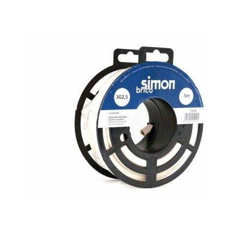 Cable Electricidad 3X2,5 5Mt Manguera Simon B Blanco H05Vv-F Rdo
