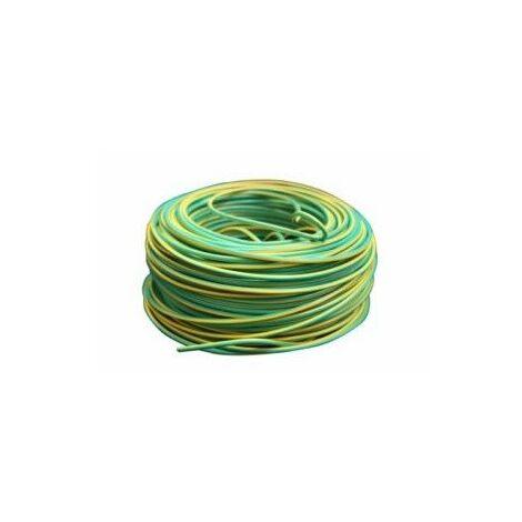Cable Electricidad 4Mm Hilo Flexible Nivel Amarillo/Verde 750V Cf1040 100 Mt