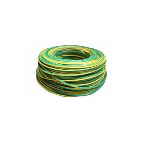 Cable Electricidad 6Mm Hilo Flexible Nivel Amarillo/Verde 750V Cf1060 100 Mt