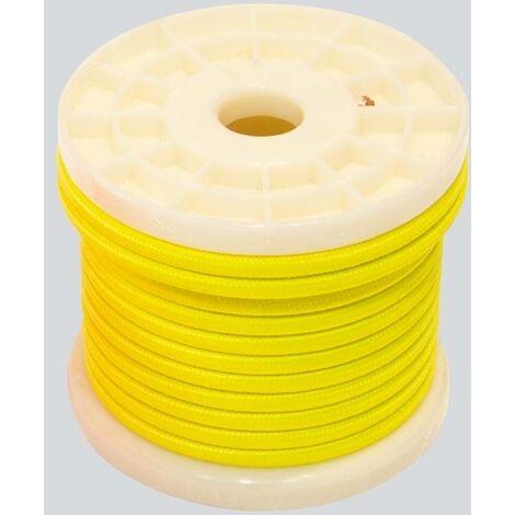 Cable eléctrico decorativo textil 2x0,75 colores flúor