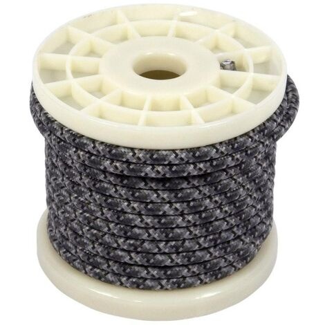 Cable eléctrico decorativo textil estilo nórdico 2X0,75 estampado gris tweed