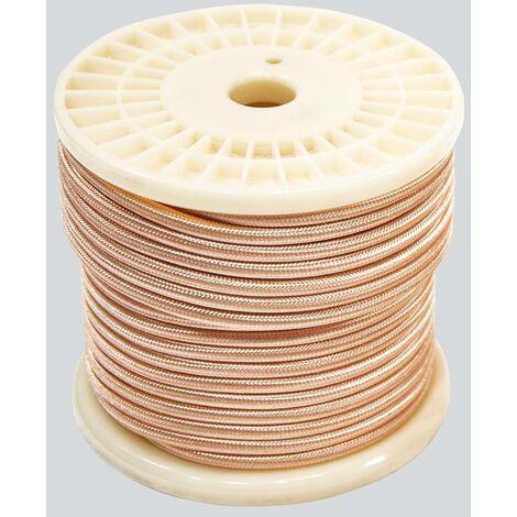 Cable eléctrico decorativo textil estilo nórdico 2X0,75 oro rosa - 10 metros