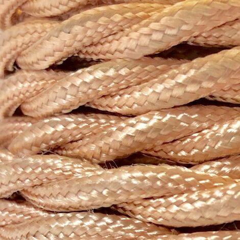 Cable eléctrico decorativo textil trenzado de colores (venta por metros)