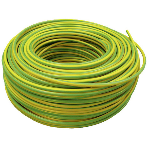 Cable Eléctrico Flexible 35 mm (1 metro) Tierra (Color: verde-amarillo) HV07V-K