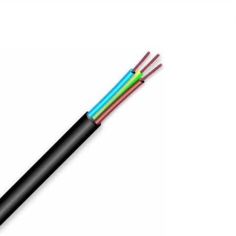 Cable electrico manguera H05VV-F seccion 3G1.5 mm 10 M Negro