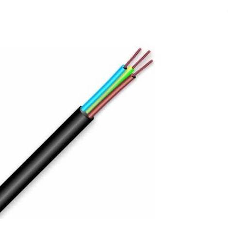 Cable electrico manguera H05VV-F seccion 3G2.5 mm 10 M Negro