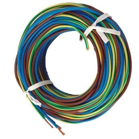 Cable electrico manguera H07V-K seccion 1x1.5 mm 10 M Multicolor