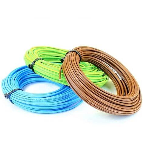 Cable electrico manguera H07V-K seccion 1x2.5 mm 10 M Multicolor