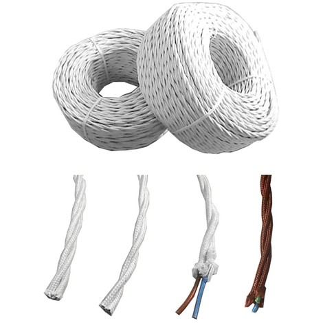 Cable Electrico Paralelo Textil Trenzado 2X1.5Mm Marron 1 Metro - NEOFERR..