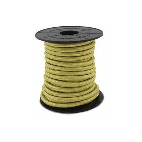 Cable eléctrico textil 10 metros 2x0.75mm Champagne GSC 3902995