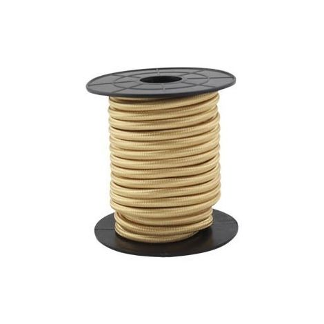 Cable eléctrico textil 10 metros 2x0.75mm Dorado GSC 3902996