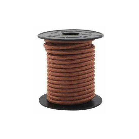 Cable eléctrico textil 10 metros 2x0.75mm Marron GSC 3902993