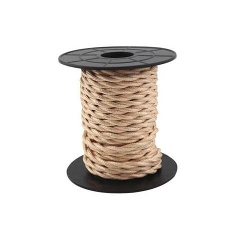 Cable eléctrico textil 10 metros 2x0.75mm trenzado Cobre GSC 3902980