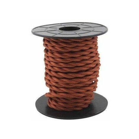 Cable eléctrico textil 10 metros 2x0.75mm trenzado Cobrizo GSC 3902985