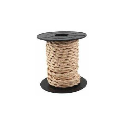 Cable eléctrico textil 10 metros 2x0.75mm trenzado Marron Claro GSC 3902981