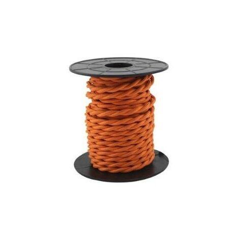 Cable eléctrico textil 10 metros 2x0.75mm trenzado Naranja GSC 3902984