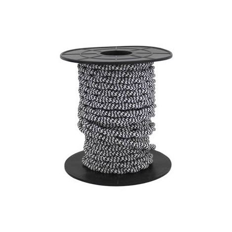 Cable eléctrico textil 10 metros 2x0.75mm trenzado Negro/Blanco GSC 3902986