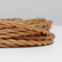 Câble électrique en tissu tressé au mètre