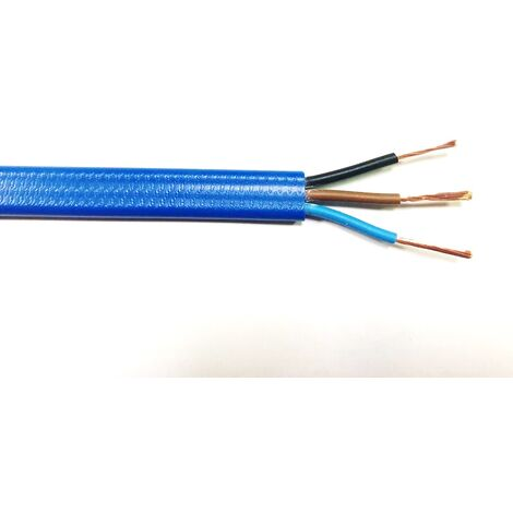 Câble électrique RS PRO 3G16 mm², gaine PVC Bleu, 100m