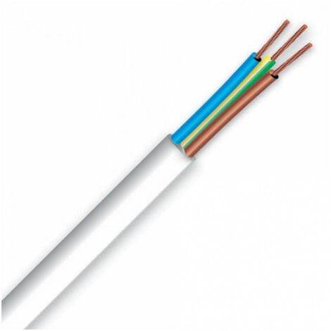 """main image of """"Câble électrique souple H05 VV-F 3G4 blanc au mètre"""""""