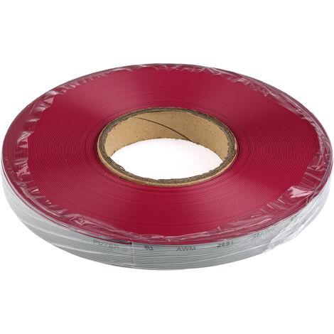 Câble en nappe, 10 voies, larg. 12,7 mm, 26 AWG, pas de 1.27mm, Multicolore, 25m