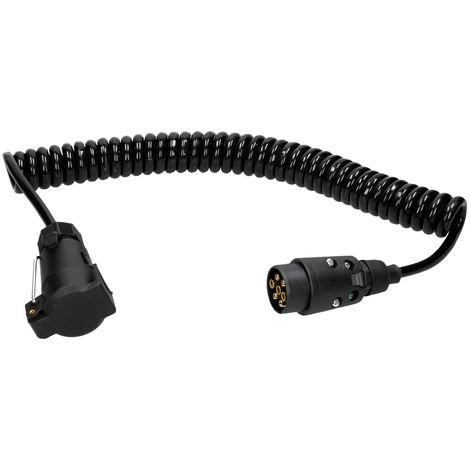 Cable espiral 7 pines 3m cable remolque alimentación luces vehículo 12V colgante