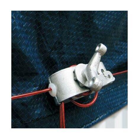 Cable et tendeur de rechange pour bache protection piscine hors sol