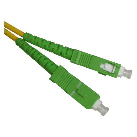 Cable fibra optica SC-APC monomodo simplex 9-125 0.50 M Amarillo