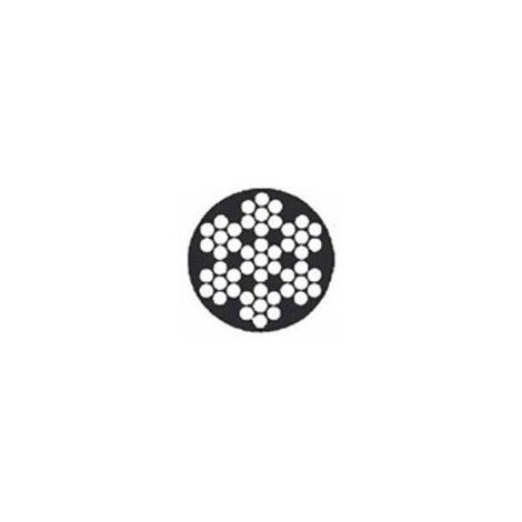 Câble galva PVC 7 torons de 7 fils - Diamètre : 3mm - Longueur : 100 mètres