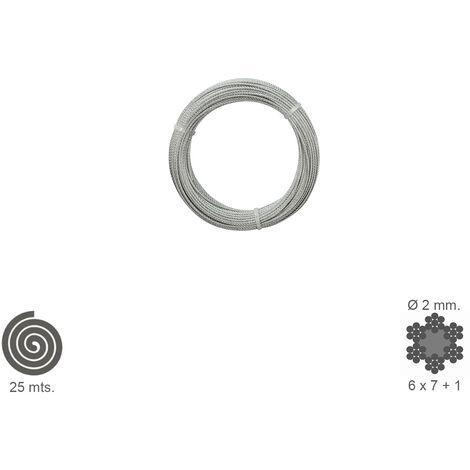 Cable Galvanizado 2 mm. (Rollo 25 Metros) No Elevacion
