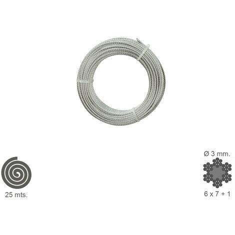 Cable Galvanizado 3 mm. (Rollo 25 Metros) No Elevacion