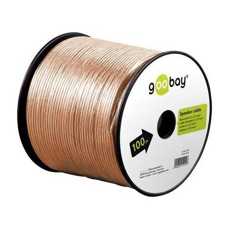 Câble haut-parleur 2 x 1.50 mm² Goobay 67721 transparent 25 m