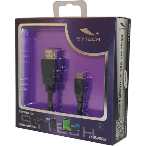 Cable HDMI de Alta Velocidad de 1,8m, Bañado en ORO 24K - Certificado HDMI 1.4V