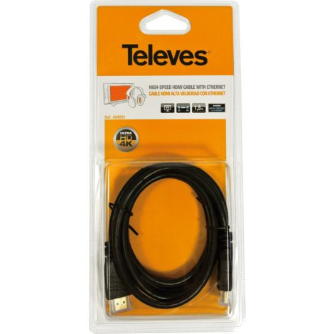 CABLE HDMI M/HDMI 1,5m TELEVES 494501
